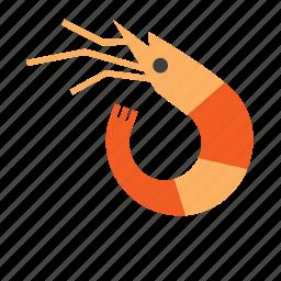 animal, marine, nautical, prawn, sea, seafood, shrimp icon