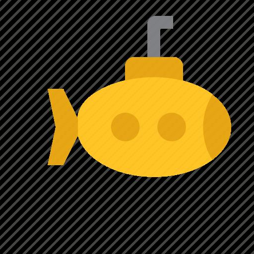 marine, nautical, sea, submarine, transport icon