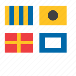 flags, marine, nautical, navigation, sea icon