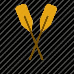boat, marine, nautical, oar, sea icon
