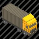 business, car, cargo, cartoon, isometric, silhouette, truck