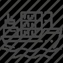 container, logistics, marine, port, sea freight, ship icon