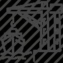 sea freight, port, ship, marine, crane, harbor, dock icon