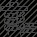 dock rope, marine, nautical, navy, port, rope, dock icon