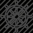 boat, marine, nautical, navy, ship, steering wheel icon