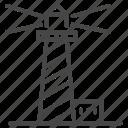 beacon, lighthouse, marine, nautical, navy, port, tower icon
