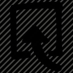 arrow, click, direction, input, left, marker, productivity icon