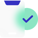 smartphone, mobile, phone, check, mark, checked, approved icon