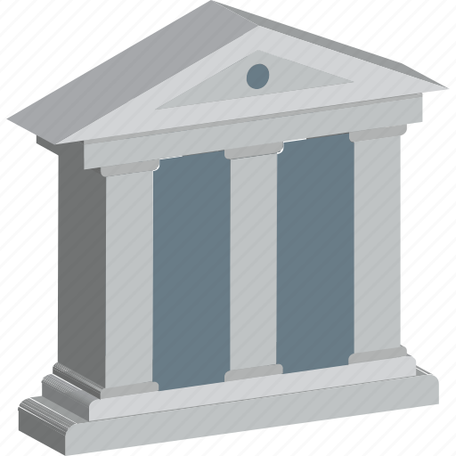 architecture, bank, building, courthouse, real estate icon