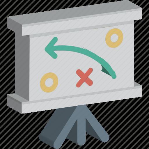 business presentation, easel board, graph presentation, presentation, whiteboard icon
