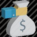 currency sack, dollar sack, money sack, wealth, money bag