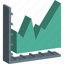 business chart, analytics, infographic, line graph