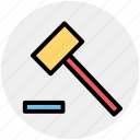 claw hammer, construction, geology, hammer, tool icon