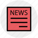 news, newspaper, paper, press, reading, subscribe icon