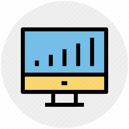 chart, graph, lcd, lcd graph, monitor, statistic icon