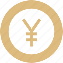 bank, coin, money, payment, yen icon