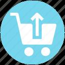 cart, market, shopping cart, up icon