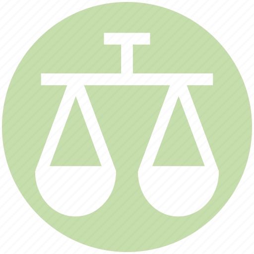 balance, business, justice, law, modern, scales, weight icon