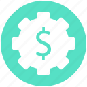 dollar, economics, gear, making, money icon