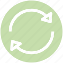 arrow, arrows, loading, recycle, searching icon