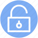 encryption, open, padlock, secure, security, unlock icon