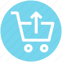 cart, market, shopping cart, up icon