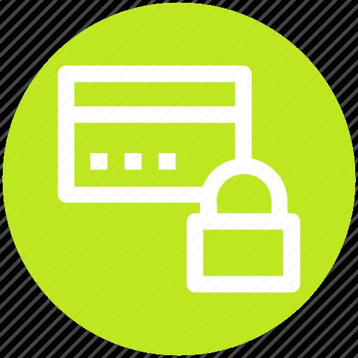 card, credit card, lock, pin lock, security icon