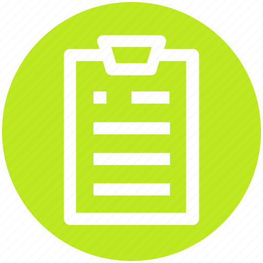 clip, clipboard, contract, document, paper, sheet icon