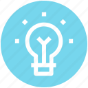 bulb, idea, lamp bulb, light, light bulb, tips icon