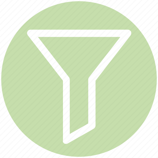 crater, filter, filters, funnel, sort, tool icon