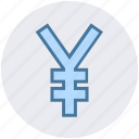 bank, money, payment, sign, yen icon