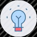 bulb, idea, lamp bulb, light, light bulb, tips icon