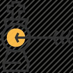 arrow, marker, market, navigation, pointer, strategy, target icon