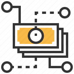 currency, finance, flow, money, payment icon