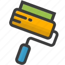 brush, color, design, drawing, paint, painting, roller icon