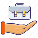 bag, briefcase, economics, job, portfolio icon