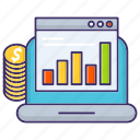 budget, chart, diagram, economics, online, stock icon