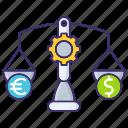 balance, budget, conversion, economics, money, wieght icon