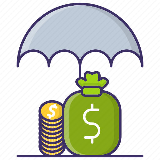 business, economics, funds, protection, umbrella icon