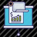 business, economics, growing, plan, report icon