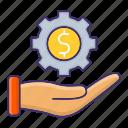 business, economics, generate, making, money icon
