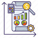 analysis, economics, market, report icon