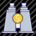 economics, forcast, market, money, view icon