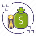 cash, currency, economics, flow, money icon