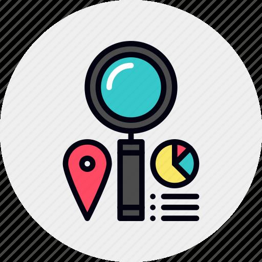 analysis, analytics, data, market icon