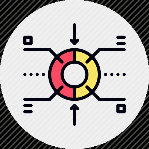 business, infographics, market, segmentation icon