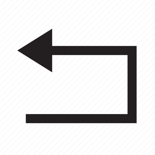 arrow, back, direction, move, navigation, return icon