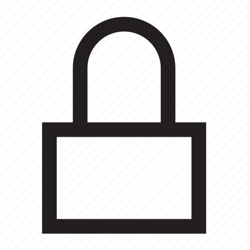 closed, latch, lock, protection, reserved, security icon