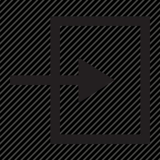 arrow, direction, door, enter, login icon