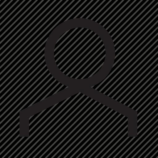 account, human, person, private, profile, user icon
